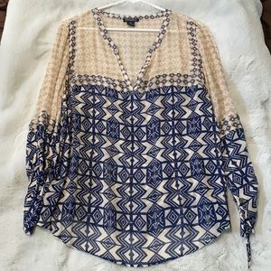 Lucky brand patterned flowy top